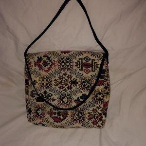 Needlepoint handbag. Beautiful design.
